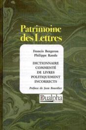 Dictionnaire Commente De Livres Politiquement Incorrects - Couverture - Format classique