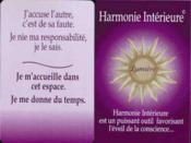 Harmonie interieure - Couverture - Format classique