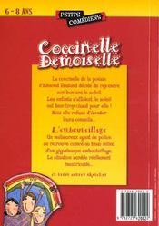 Coccinelle demoiselle ; et autres sketches - 4ème de couverture - Format classique