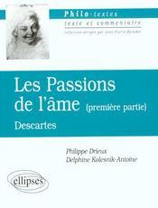 Les Passions De L'Ame (Premiere Partie) Descartes - Intérieur - Format classique