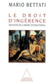 Le Droit D'Ingerence - Couverture - Format classique
