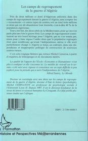 Les Camps De Regroupement De La Guerre D'Algerie - 4ème de couverture - Format classique