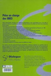 Prise En Charge Des Mici - 4ème de couverture - Format classique