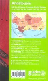 Andalousie (édition 2006-2007) - 4ème de couverture - Format classique