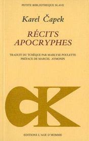 Recits Apocryphes - Intérieur - Format classique