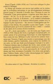 Recits Apocryphes - 4ème de couverture - Format classique