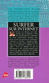 Un surfer sur internet - 4ème de couverture - Format classique