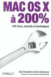 Mac Os X A 200% - Intérieur - Format classique