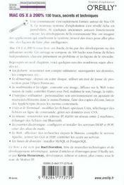 Mac Os X A 200% - 4ème de couverture - Format classique