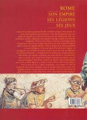 Rome ; Son Empire Ses Legions Ses Jeux - 4ème de couverture - Format classique