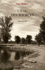 L'eau des sources - Couverture - Format classique
