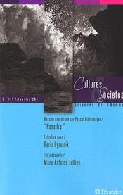 Cultures et sociétés ; sciences de l'homme t.1 - Intérieur - Format classique