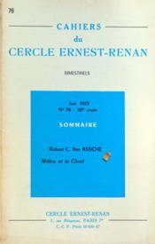 Cahiers Du Cercle Ernest Renan N°76 du 01/06/1972 - Couverture - Format classique