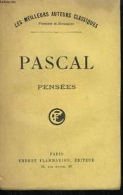 Pensees De B. Pascal. ( Edition De 1670 ). - Couverture - Format classique