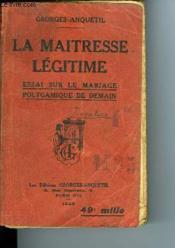 La Maitresse Legitime - Couverture - Format classique