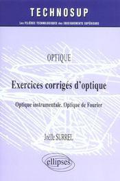 Optique Exercices Corriges D'Optique Optique Instrumentale Optique De Fourier - Intérieur - Format classique