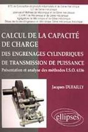 Calcul De La Capacite De Charge Des Engrenages Cylindriques De Transmission De Puissance Presentati - Intérieur - Format classique