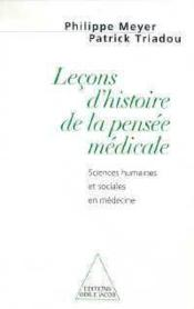 Lecon D'Histoire De La Pensee Medicale - Couverture - Format classique