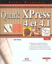 Quark Xpress 4 Et 4.1 - Intérieur - Format classique