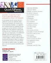 Quark Xpress 4 Et 4.1 - 4ème de couverture - Format classique