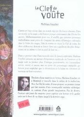 Cantin et isaya t.1 ; la clef de voûte - 4ème de couverture - Format classique