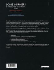 Soins infirmiers en médecine et en chirurgie t.6 ; fonctions sensorielle, neurologique et musculosquelettique - 4ème de couverture - Format classique