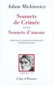 Le Sonnets De Crimee - Intérieur - Format classique