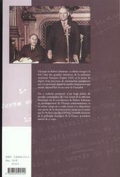 Robert Schuman - 4ème de couverture - Format classique