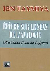 Epitre Sur Le Sens De L Analogie - Intérieur - Format classique