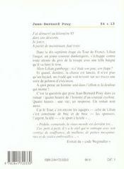 54 X 13 Le Tour De France - 4ème de couverture - Format classique