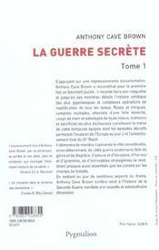 La Guerre Secrete T1 - 4ème de couverture - Format classique