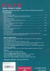 Coeducation Et Mixite Revue Clio N18 - 4ème de couverture - Format classique