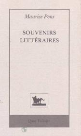 Souvenirs litteraires - Couverture - Format classique