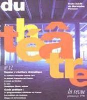 Du theatre-12, printemps 1996 - Couverture - Format classique