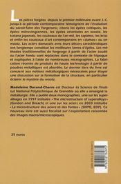 Les aciers damasses. du fer primitif aux aciers modernes - 4ème de couverture - Format classique