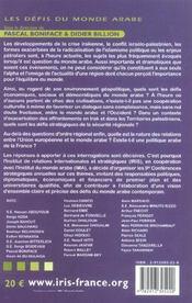 Les défis du monde arabe. textes des 9e Conférences stratégiques annuelles de l'Institut de relations internationales et stratégiques, tenues à l'Institut d - 4ème de couverture - Format classique