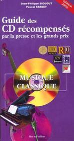 Guide des cd recompenses ; edition 2002 - Intérieur - Format classique