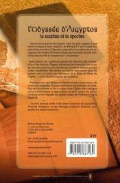 L'Odyssée d'Aigyptos ; le sceptre et le spectre - 4ème de couverture - Format classique