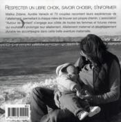Allaitement maternel et développement durable - 4ème de couverture - Format classique