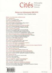 Revue Cites T.Hs ; Retour Sur Evénements 2000-2010 - 4ème de couverture - Format classique