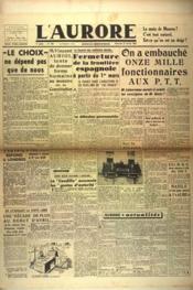 Aurore (L') N°476 du 27/02/1946 - Couverture - Format classique