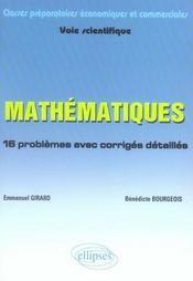 Mathématiques pour ecs 1ère année - Intérieur - Format classique