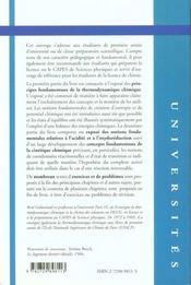 Thermodynamique Elements Fondamentaux De L'Energetique Et De La Cinetique Chimique - 4ème de couverture - Format classique