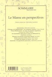 Le Maroc En Perspectives - 4ème de couverture - Format classique