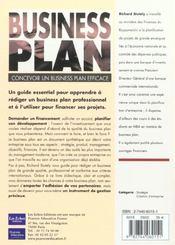 Business Plan. Concevoir Un Business Plan Efficace - 4ème de couverture - Format classique
