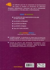 La langue française, mode d'emploi ; CM2 ; livre de l'élève - 4ème de couverture - Format classique