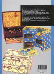 Le cartonnage ; meubles et objets - 4ème de couverture - Format classique