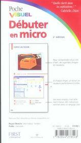 Poche Visuel Debuter En Micro 2e - 4ème de couverture - Format classique