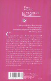 Le Vendeur De Saris - 4ème de couverture - Format classique