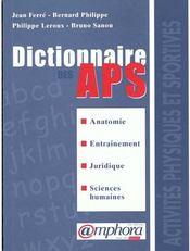Dictionnaire des activites physiques et sportives - Intérieur - Format classique